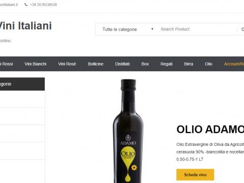 Sito web per vendita vini