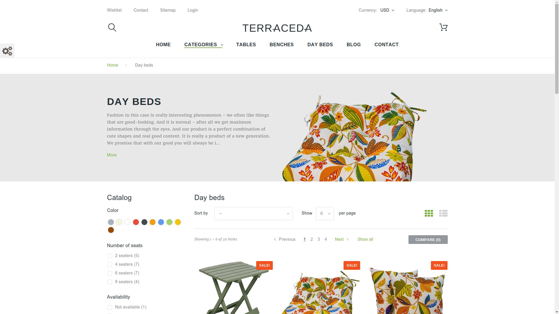 Realizzazione sito per negozio di arredamento siti web for Siti di arredamenti