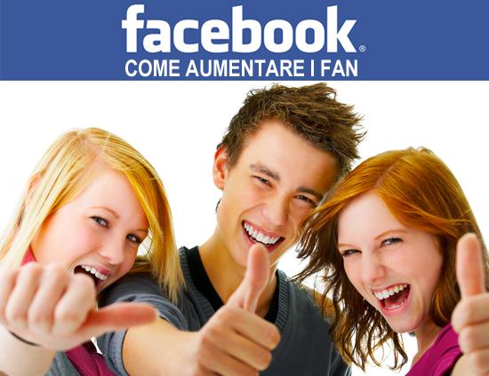 Aumentare Fans facebook